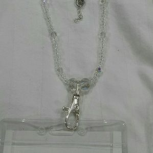 Jewelry - Beautiful crystal becklace/badge holder